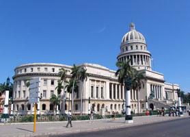 Capitolio Havana Paseo del Prado Dragones