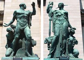 Capitolio Havana bronze statues